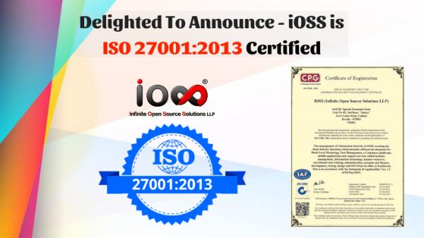 iOSS ISO 27001:2013 certified